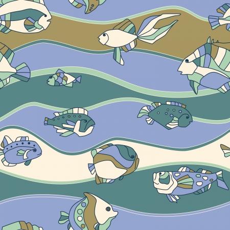 poisson aquarium: seamless poissons d'aquarium mod�le