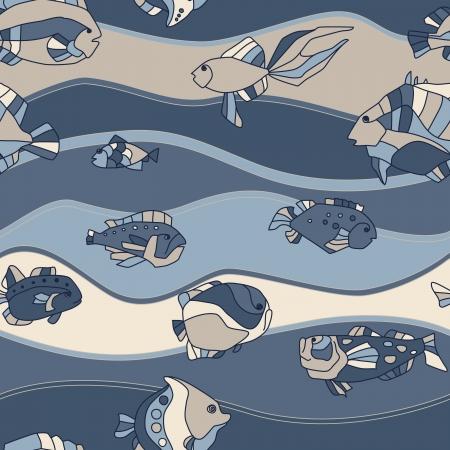 peces de acuario: acuario de peces de fondo sin fisuras patr�n Vectores
