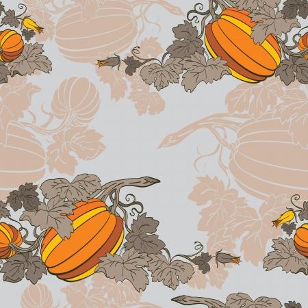 Pumpkin Background seamless pattern Stock Vector - 14676006