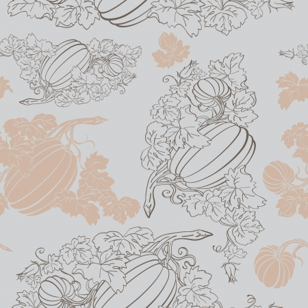 Pumpkin Background seamless pattern Stock Vector - 14676008