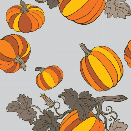 Pumpkin Background seamless pattern Stock Vector - 14675997