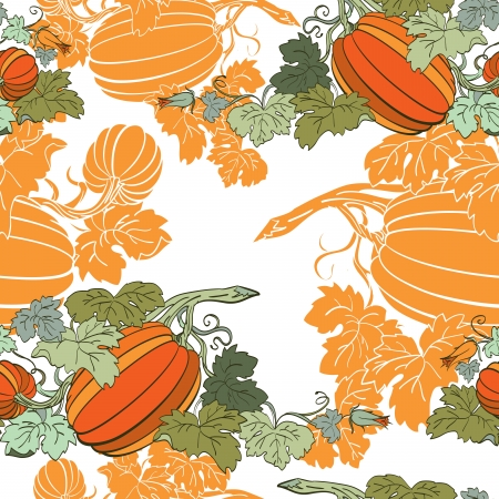 Pumpkin Background seamless pattern Stock Vector - 14676007