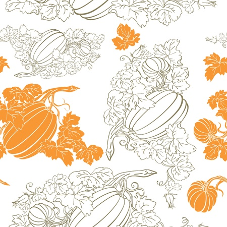 beautiful thanksgiving: Pumpkin Background seamless pattern