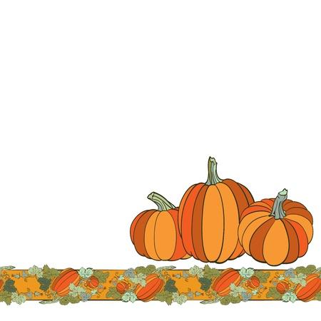 Pumpkin Background seamless pattern Vector