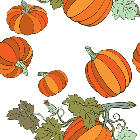 Pumpkin Background seamless pattern Stock Vector - 14675998