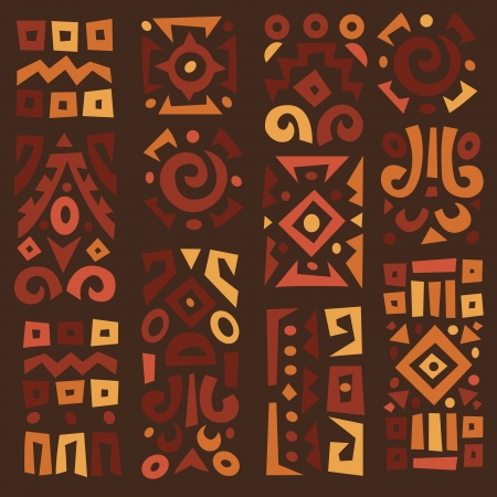Ethnic African geometrically typical elements Vector