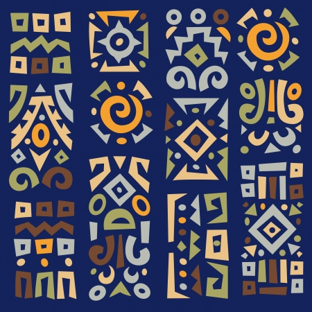 Ethnic African geometrically typical elements