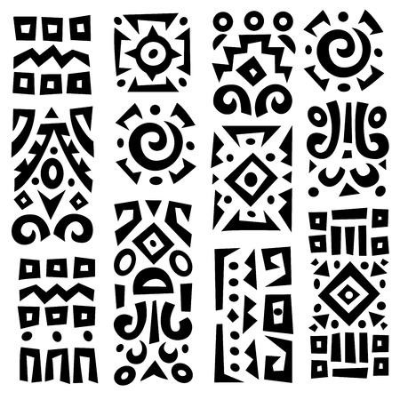 Etnische Afrikaanse geometrisch typische elementen