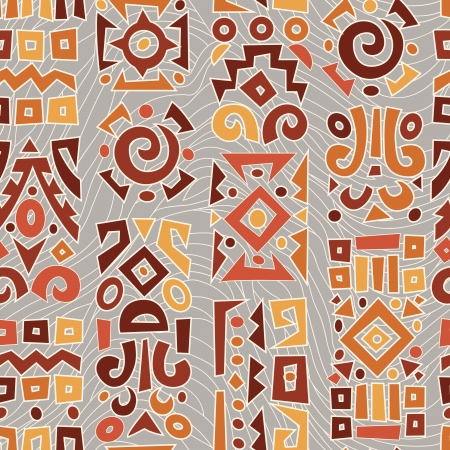 ethnic pattern: Ethnic African geometrically typical pattern Illustration