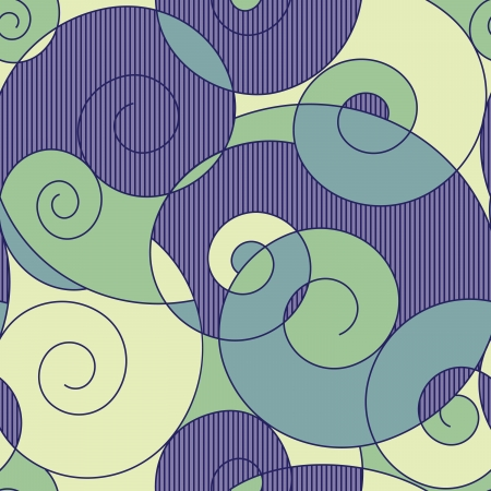 modern art painting: abstract colorful spirals seamless pattern Illustration