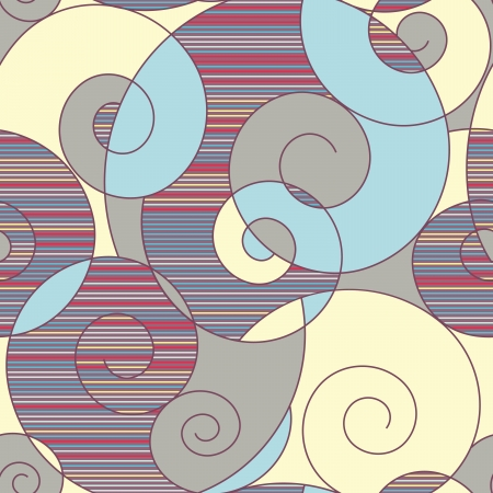 abstract colorful spirals seamless pattern Stock Vector - 16125830