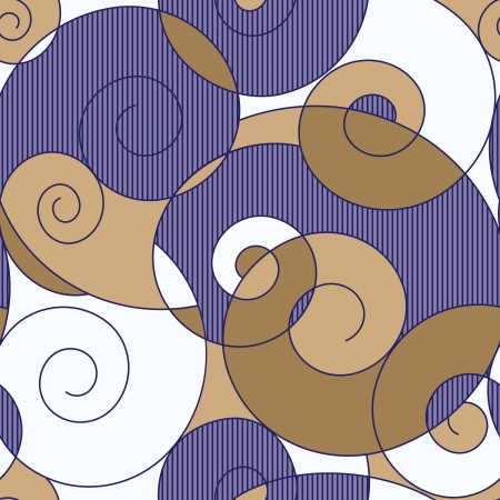 abstract colorful spirals seamless pattern Stock Vector - 16125834