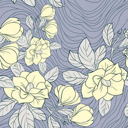 Jasmine floral vector seamless pattern Vector