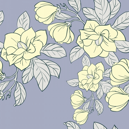 common hop: Jasmine floral vector seamless pattern