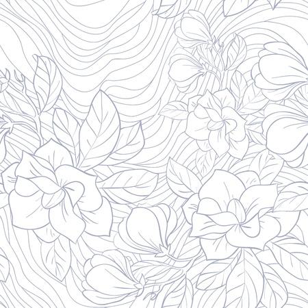Jasmine floral sin fisuras vector patrón Foto de archivo - 17004552