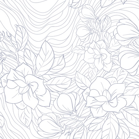 Jasmine floral vector seamless pattern