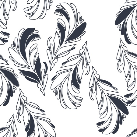 Vintage floral seamless pattern with hand drawn flowers Stock Vector - 17024619