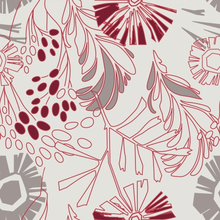 retro floral seamless pattern with flowers Stock Vector - 17024637