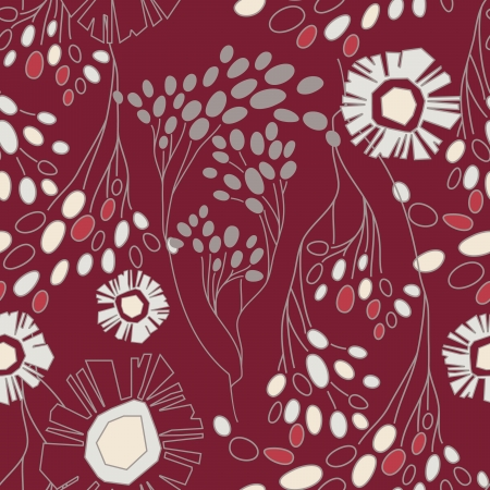 Seamless Floral Pattern With Flowers On Monochrome Background Stock Vector - 17024635