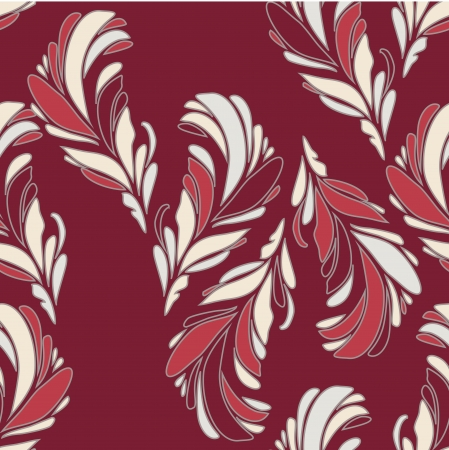 clip art draw: Seamless Floral Pattern With Flowers On Monochrome Background
