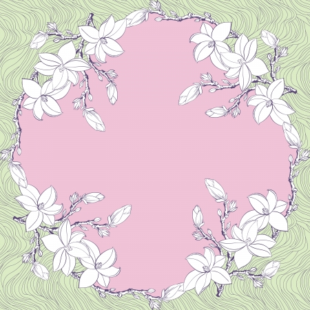 kerchief: Ornamental Floral Paisley Bandanna Illustration