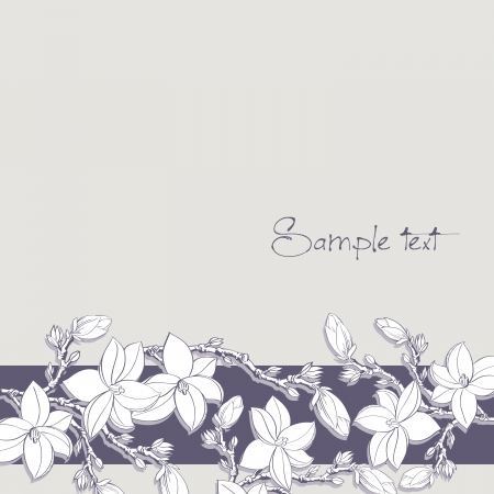 background with magnolia flowers for card or invitation Vector