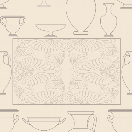 Ceramic seamless pattern. Ethnic national Greek style background Stock Vector - 17097012
