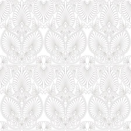 jugendstil: Seamless greek Art Nouveau pattern