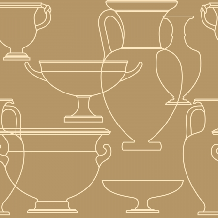 Ceramic seamless pattern. Ethnic national Greek style background Stock Vector - 17097005