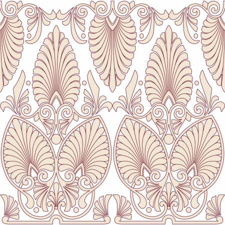 tileable: Seamless greek Art Nouveau pattern