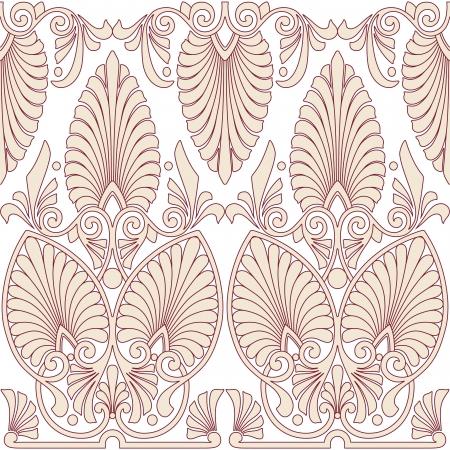 jugendstil: Seamless greek Art Nouveau pattern