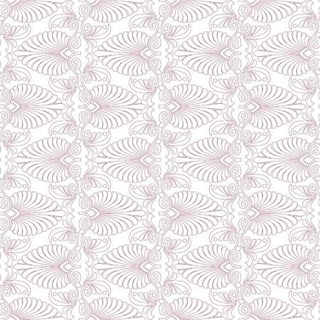 Seamless greek Art Nouveau pattern Vector