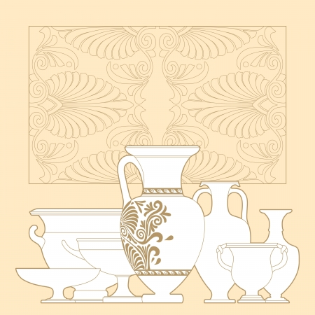 Ceramic seamless pattern. Ethnic national Greek style background Stock Vector - 17097011