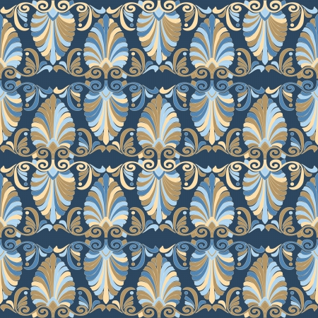 Seamless greek Art Nouveau pattern Vector