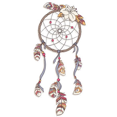 dreamcatcher: Dreamcatcher vector  illustration