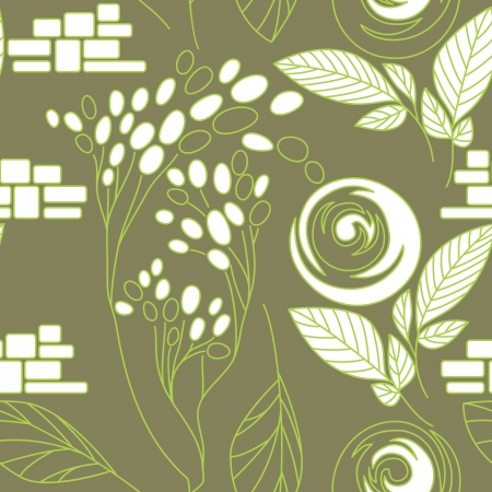 Beautiful seamless floral pattern Stock Vector - 17185038