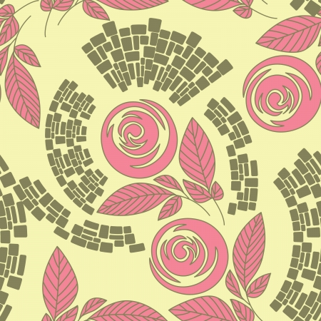 Beautiful seamless floral pattern Stock Vector - 17185046