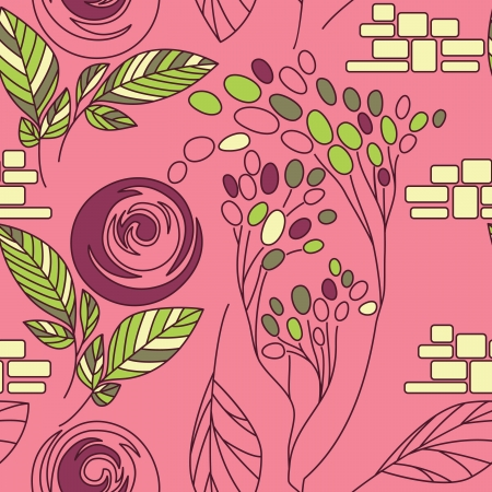 Beautiful seamless floral pattern Stock Vector - 17185064