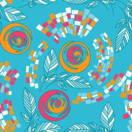 Beautiful seamless floral pattern Stock Vector - 17185047