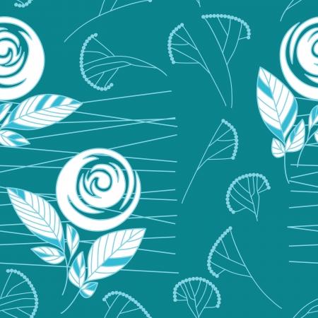 seamless vintage rose pattern background Stock Vector - 17185045