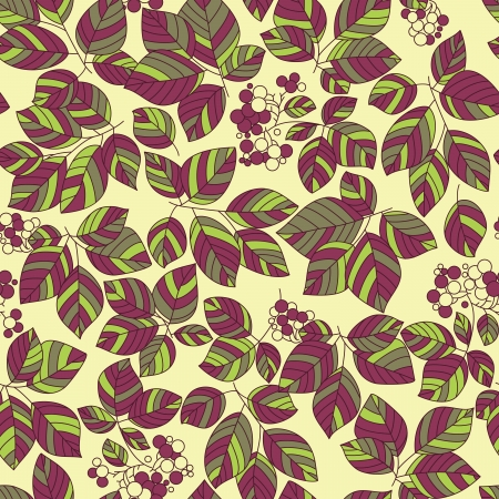 Seamless green leaves pattern Stock Vector - 17185051