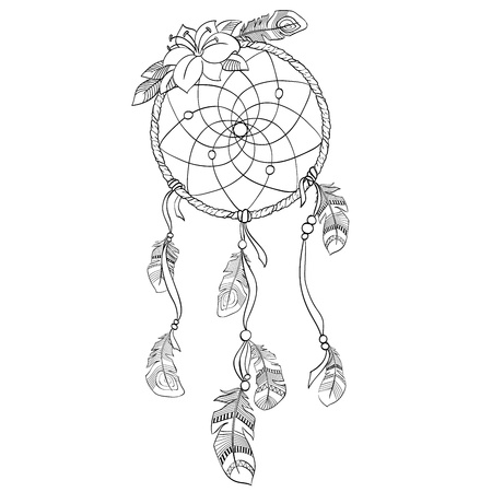 handcrafted: Dreamcatcher vector  illustration