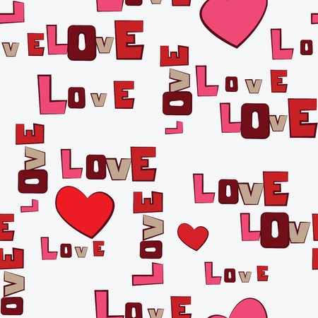 february 14th: Valentine s Day Hearts Love  seamless pattern Illustration