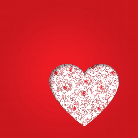 valentine s day red heart Vector
