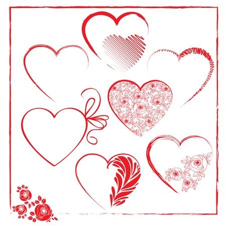 Valentines plantillas de elementos días Ilustración de vector