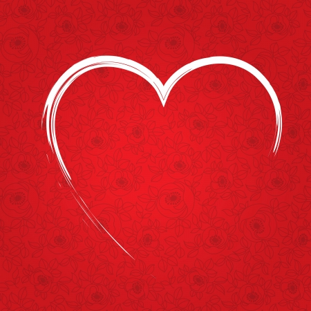 valentine s day red heart Stock Vector - 17308261