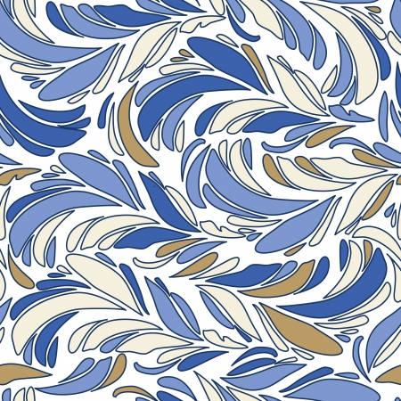opalesce: Blue seamless vector texture with feathers