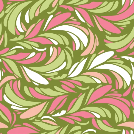 romanticist: Seamless abstract pattern with bright feather