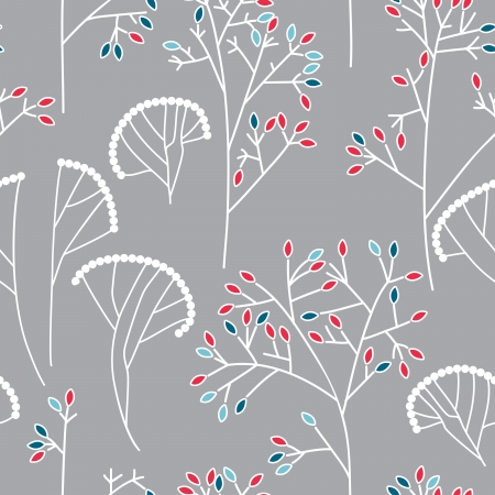 Seamless background pattern with leaves Stock Vector - 17446957