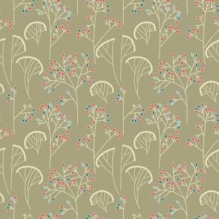 tessile: Alberi Abstract background senza soluzione di modello